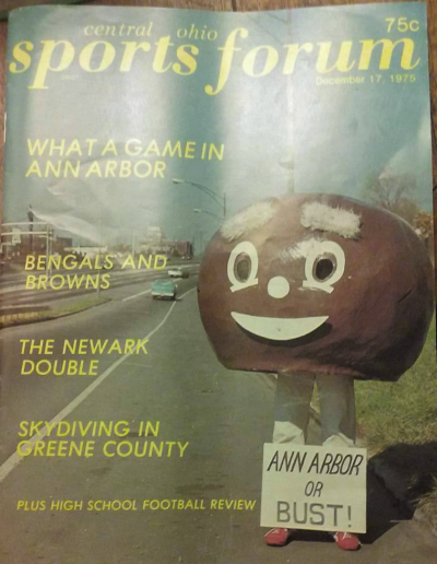 Sports Forum Cover Keith Burkes Rose Bowl or Bust